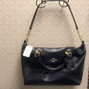 NWT Coach Colette Midnight Leather Satchel